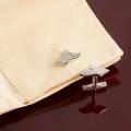 Göktürk Kurtlu Gümüş Kol Düğmesi