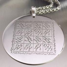 Fatiha Vefki Gümüş Kolye