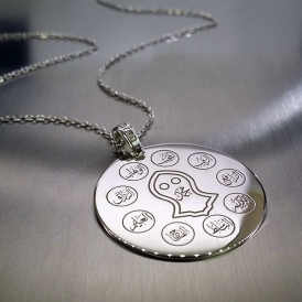 Esmaül Hüsna Allahın İsimleri Yıldız Gümüş Kolye