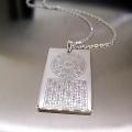İsmi Azam Vefki Celcelutiye ve Hz Süleyman Mührü Gümüş Künye Kolye