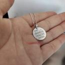 Ayetel Kürsi ve Nazar Ayeti Bir Arada Küçük Gümüş Kolye