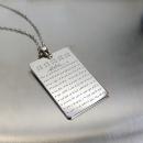 Sekine Duası Gümüş Kolye
