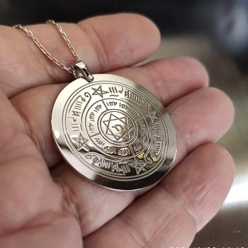 Rufai Gülü Gümüş Kolye