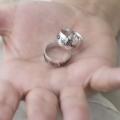 İsimli Sonsuzluk Çift Gümüş Yüzük Evlilik Alyans