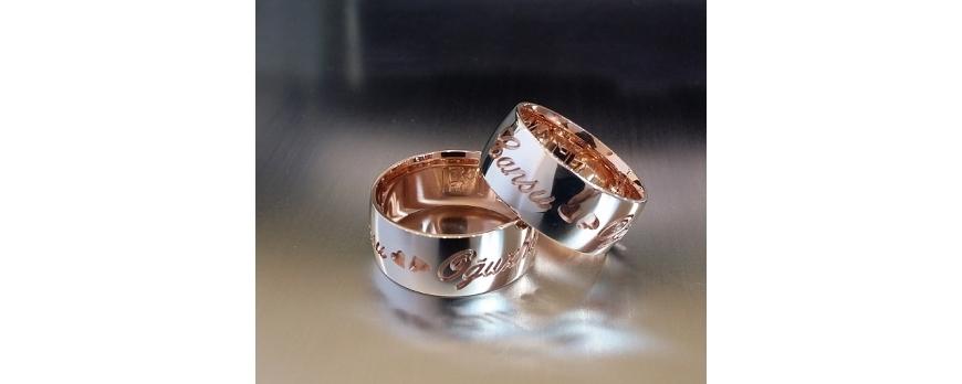 isimli kalpli gümüş yüzük