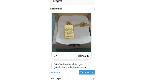 Süleyman Mührü Gümüş Kolye